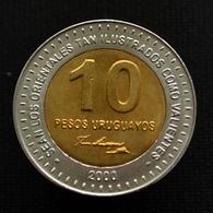 Uruguay 10 Pesos (José Artigas) 2000. UNC Coin Km121 - Oeganda
