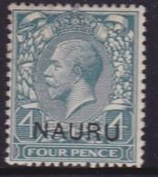 Nauru 1916 Nauru Ovpt SG 8 Mint Hinged - Nauru