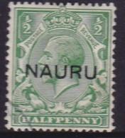 Nauru 1916 Nauru Ovpt SG 13 Used Centred Ovpt - Nauru