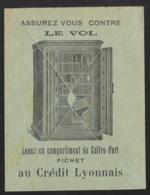 Enveloppe Illustrée Coffre Fort-Gandon 3f Perforé CL-Credit Lyonnais Montbéliard - France