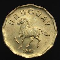 Uruguay 10 Centésimos, Km66, Random Age Coin Circulated, Animal-horse UNC - Oeganda