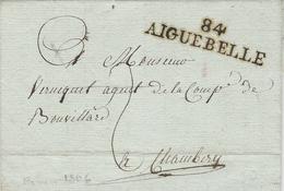 1806- Lettre De 84 / AIGUEBELLE ( Mont-Blanc ) - Postmark Collection (Covers)