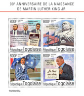 TOGO 2019 MNH Dr. Martin Luther King Jr. M/S - IMPERFORATED - DH1931 - Martin Luther King
