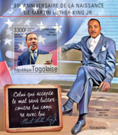 TOGO 2019 MNH Dr. Martin Luther King Jr. S/S - IMPERFORATED - DH1931 - Martin Luther King