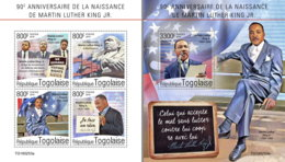 TOGO 2019 MNH Dr. Martin Luther King Jr. M/S+S/S - IMPERFORATED - DH1931 - Martin Luther King
