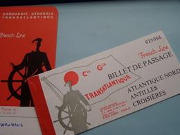 """Compagnie Générale Transatlantique """" FRENCH LINE """" 1971 > Le Havre > Southampton ( Voir Photo / Zie Foto ) ! - Titres De Transport"""