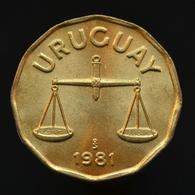 Uruguay 50 Centésimos 1981, Km68, UNC Coin - Oeganda