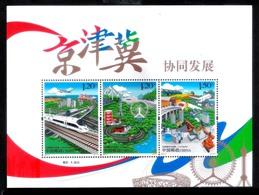 669. Traíns - Bridges - China - S/S - MNH - Free Shipping - 1,95 - Trains