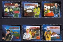 Alderney MiNr. 199/204 A O Soziale Dienste Auf Alderney: Rettungsdienste - Alderney