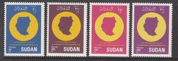 1990 Sudan Independence Maps Complete Set Of 4  MNH - Soedan (1954-...)