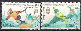 Serbien  (2018)  Olympia  Gest. / Used  (4fc28) - Winter 2018: Pyeongchang