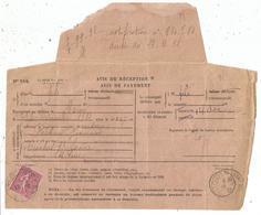 SEMEUSE 75C TYPE 2  SEUL AVIS DE RECEPTION MACON 14.12.1932 - 1921-1960: Modern Period