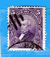 (Us.3) Ecuador °- 1907 - José M. URVINA.  Yvert. 150  -    . Used. - Ecuador