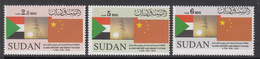2009 Sudan Links With China Flags Complete Set Of 3  MNH - Soedan (1954-...)
