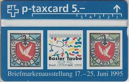 SUISSE - PHONE CARD - TAXCARD-PRIVÉE ***  JUNAPHILEX 95 *** - Schweiz
