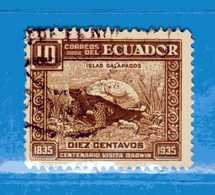 (Us3) Ecuador °- 1936 - TORTUE.  Yvert. 334  -    . Used. - Ecuador