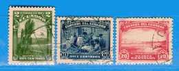 Ecuador °- 1937 -.  Yvert. 353 - 355 - 356  -    . Used. - Ecuador