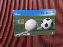 Phonecard Footbal Belgium Used Rare - Avec Puce