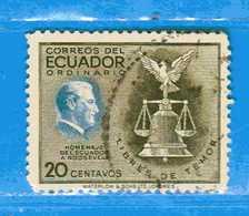 Ecuador °- 1948 - ROOSEVELT.  Yvert. 499  -    . Used. - Ecuador