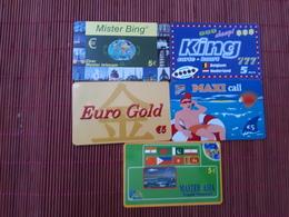 5 Prepaidcards Belgium  Used Rare - Belgique