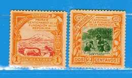 Ecuador *- 1930 - .  Yvert. 285-286  -  MH. * - Ecuador