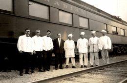 CANADÁ RESTAURANT WAGON CANADIAN  RAILWAY CHEMIN DE FER EISENBAHN 16*12CM Fonds Victor FORBIN 1864-1947 - Trenes