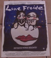 AFFICHE CINEMA ORIGINALE FILM LUNE FROIDE BOUCHITEY STEVENIN TBE 1991 TB DESSIN De Marie ROUBENNE - Affiches & Posters