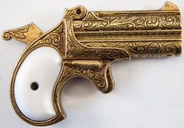 DENIX DERRINGER PISTOL, ÉTATS-UNIS D'AMÉRIQUE 1866 13,5 Cm 300 G 1262L07 - Sammlerwaffen