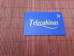 Prepaidcard Telecabinas  Used - Espagne