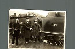 THE INDEPENDENT RAILWAY STRIKES UNION FIREMEN  RAILWAY CHEMIN DE FER EISENBAHN 16*12CM Fonds Victor FORBIN 1864-1947 - Trenes
