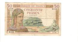 Francia 50 Francs  1934-1940 Cérès 27 12 1934 Km#81 Lotto 2678 - 1871-1952 Gedurende De XXste In Omloop