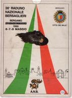 36° Raduno Nazionale Bersaglieri Bergamo 1988 - Army & War