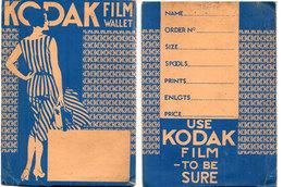 Pochette Kodak Film Wallet Avec Support Photo Gaufré (2 Volets)   (115921) - Photographie