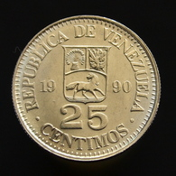 Venezuela 25 Céntimos 1990. South America. Uncirculated. Y50a. - Venezuela