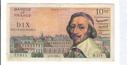 Francia France 10 Nouveaux Francs RICHELIEU 07 06 1962 Lotto 2679 - 1959-1966 Francos Nuevos