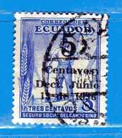 Ecuador °- 1936 - Bienfaisance Surchargé Yvert 5.  -  Used. - Ecuador
