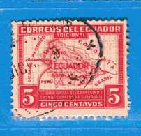 Ecuador °- 1936 - Bienfaisance- Carte  De L'Equateur Yvert. 8.  -  Used. - Ecuador