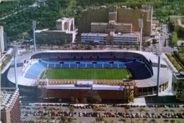 Postcard Stadium Zaragoza Spain Stadion Stadio - Estadio - Stade - Sports - Football BACKSIDE ALL WHITE - Calcio