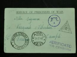 Postcard 1941 War Prisoner     BR - 1900-44 Vittorio Emanuele III
