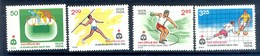 B130- India 1982 IX Asian Games. Football, Discuss Throw. Cycling, Javelin, Athletics. - Unused Stamps