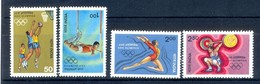 B131- India 1984. XXIII Olympic Games, Olympics, Sports, Gymnastics, High Jump, Basketball & Weight Lifting. - Unused Stamps