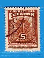 Ecuador °- 1940-43 - Bienfaisance- Emblème De Poste. Yvert. 13.  -  Used. - Ecuador