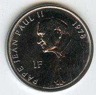 Congo 1 Franc 2004 Pape Jean Paul II Pope John Paul II - Election 1978 UNC KM 158 - Congo (République Démocratique 1998)