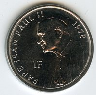 Congo 1 Franc 2004 Pape Jean Paul II Pope John Paul II - Election 1978 UNC KM 158 - Congo (República Democrática 1998)
