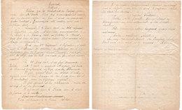 Discours Par Les Combattants De PARGNY SUR SAULX  Lors Des Obsèques Du Caporal André Froissart(115923) - Manuskripte