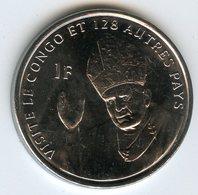 Congo 1 Franc 2004 Pape Jean Paul II Pope John Paul II - Visite UNC KM 159 - Congo (República Democrática 1998)