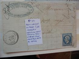 Francia. Marcophilie. YT 22 Isolé. Description. 3 Photos - Marcophilie (Lettres)