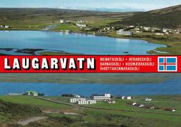 1 AK Island Iceland * Blick Auf Das Schulzentrum Laugarvatn - Luftbildaufnahme * - Island