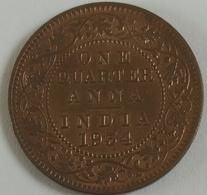 (9)....1934  NDIA INDE 1/4 Anna EF Calcutta Mint - Colonies