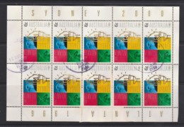 Australia 1996 Transfer Of Olympic Flag Atlanta To Sydney Sheetlet Used - See Notes - 1990-99 Elizabeth II